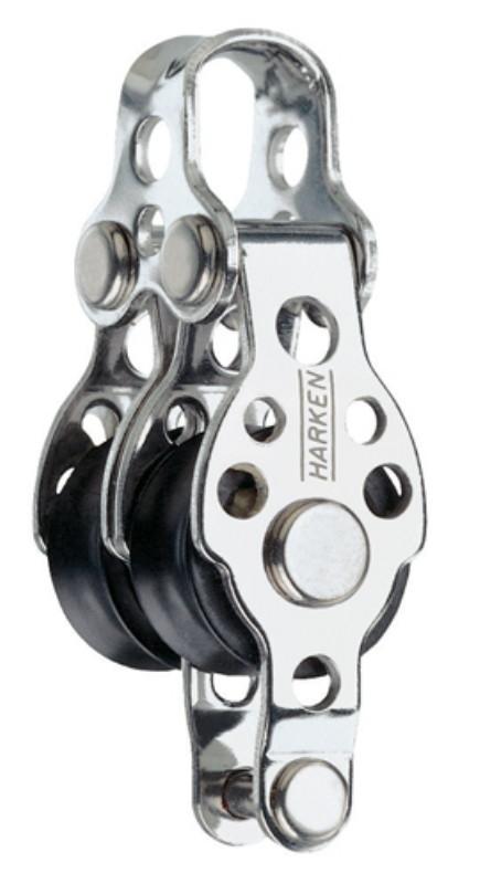harken-block-kugellager-2-rollen-mit-buegel-und-hundsfott-5mm