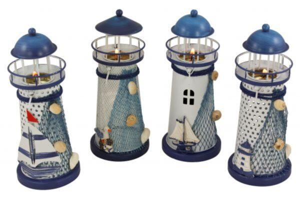 teelichter-leuchtturm-metall