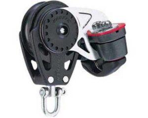 harken-40mm-carbo-niederholerblock-kugellager-1-rolle-mit-wirbel-und-klemme-6mm
