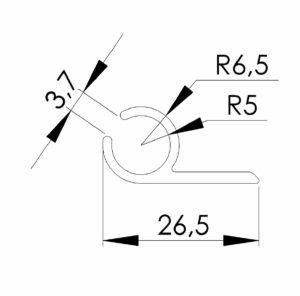 pfeiffer-kederschiene-aluminium-masse