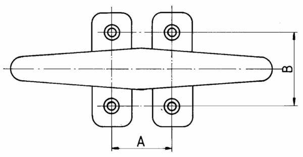 pfeiffer-belegklampe-aluminium-mit-4-befestigungsloecher-zeichnung