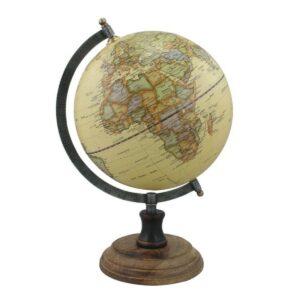 Globus auf Holzständer antik-0