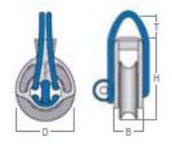 tyetec-high-load-einzelblock-mit-gleitlager-zeichnung